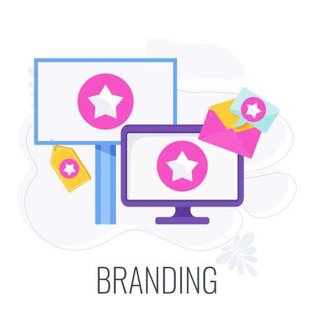 Branding icon. Corporate identity. Flat vector illustration.