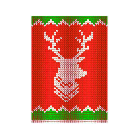 2021 knitted Cristmas and New Year card and banner.