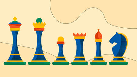 Set of figures for chess