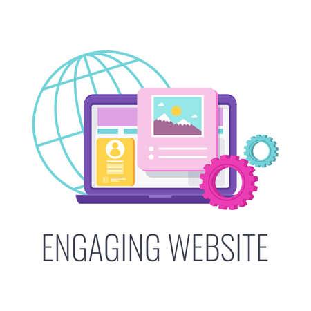 Website design icon. Creative design. Flat illustration. 矢量图像