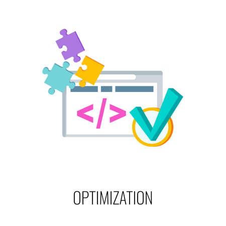 Optimization icon. SEO, increase the quantity and quality of traffic.