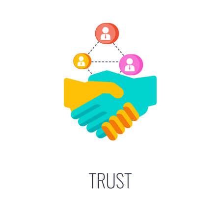 Trust icon. Loyalty to the brand, company and product.