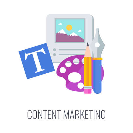 Relevannt Content Infographics Icon. Successful content marketing strategy.