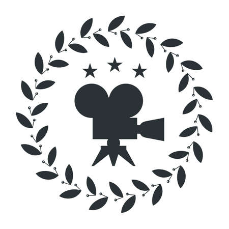 Film Award for the best film in the form of icon with camera Ilustração
