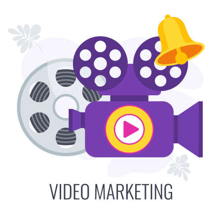 Video marketing icon. Digital marketing. Selling goods and services