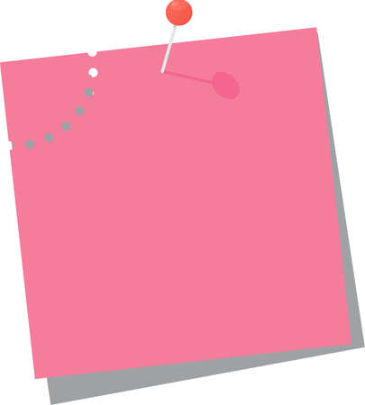Bright square colored sheets of paper for notice.