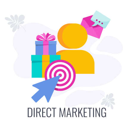 Direct marketing icon. Direct communication with the consumer.