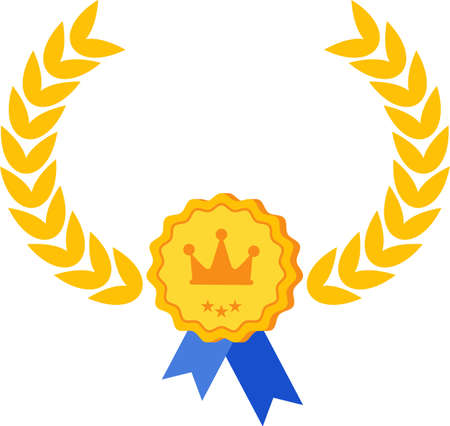 Quality infographics icon. Certificate and warranty, highest rating