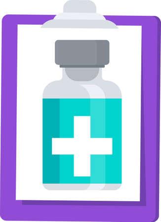 Vaccination programm banner. Flat cartoon vector illustration.