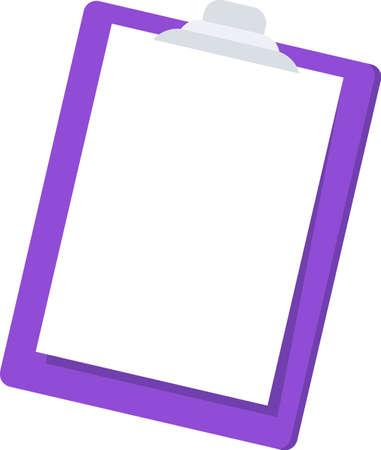 Clipboard folder icon. Stationery flat vector illustration.