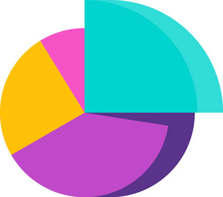 Pie Chart Infographic icon. Statistics and presentations.