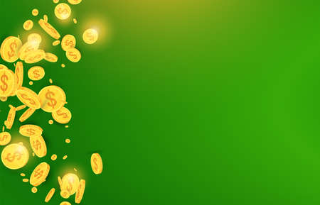 Bright green background with shining golden highlights. Poster for a casino 写真素材 - 167149629