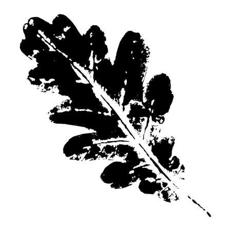Ink print leaves. Black ink prints of leaves of trees and bushes