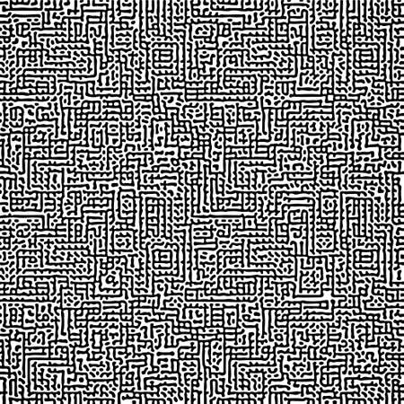 Cyclic Symmetric Multiscale Turing Pattern. Monochrome texture