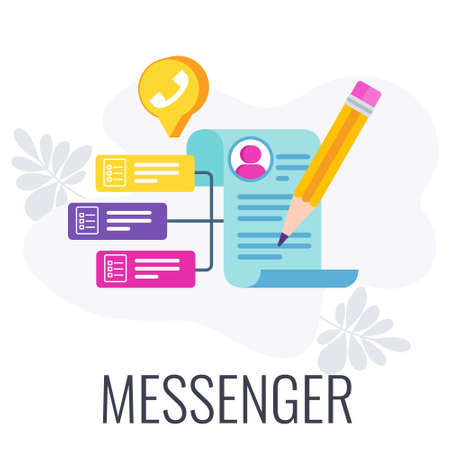 Messenger icon. Modern way of communication between people. Ilustração