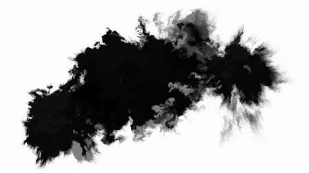 Ink drop. Round, ragged inkblot. Vector illustration. Ilustração