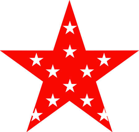 Star shape badge  or award icon. Independence day of USA 向量圖像