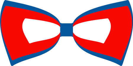 Bow tie flat vector icon. Independence day of USA