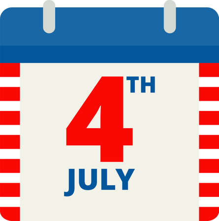 Independence day of USA flat vector icon. July fourth celebration party. 向量圖像