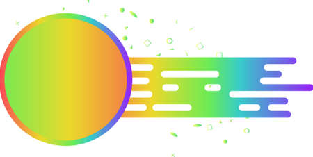 Bright gradient sale tag vector icon for discount in store.