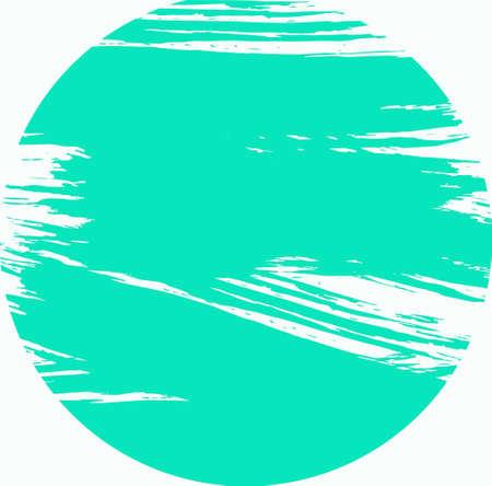 Ink drop. Round, ragged inkblot. Vector illustration. Vecteurs