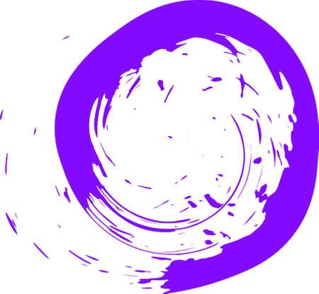 Ink drop. Round, ragged inkblot. Vector illustration.