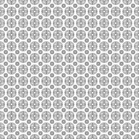 Traditional chinese, japanese, asian vector seamless patterns. Illustration