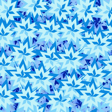 snowflake background: winter white and blue background with snowflakes Illustration