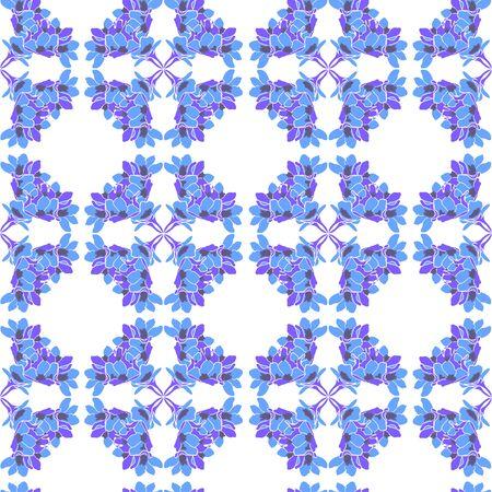 bedcover: blue flower pattern