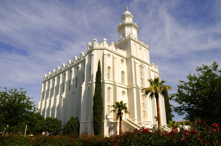 mormon temple: The Mormon Temple in St George Utah which was the summer home of  Brigham Young.