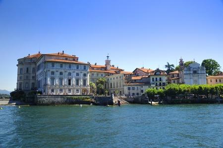 Het paleis op de Isola Bella aan het Lago Maggiore in de Italiaanse meren, Italië