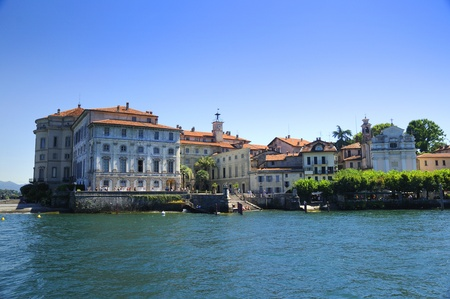 maggiore: The palace on the Isola Bella on Lake Maggiore in the Italian Lakes, Italy