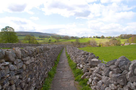 The village of Grassington in the Yorkshire Dales and Linton Falls photo