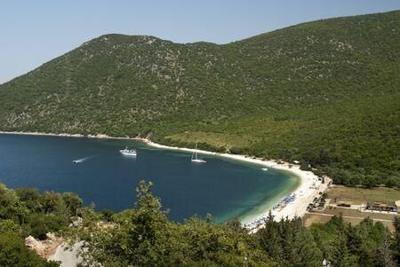 Antisamos Bay on the island of Kephalonia in Greece