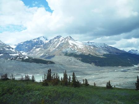 Athabasca Glacier in the Columbia Icefield Jasper Canada.