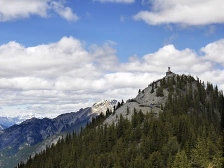 View from top of Sulphur Mountain in Banff National Park Alberta Canada photo