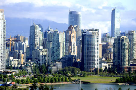 City scape in Vancouver British Columbia Canada photo