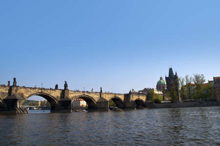 the Charles Bridge in Prague Czech Republic photo