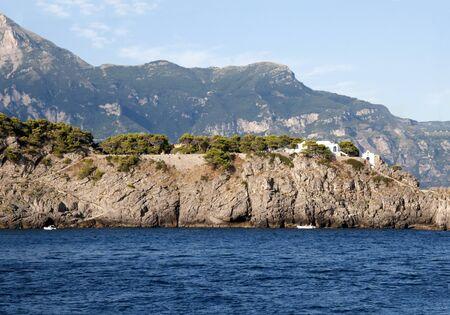 il: Il Galli Islands where Rudolf Nureyev spent his last years  on the Amalfi Coast Stock Photo