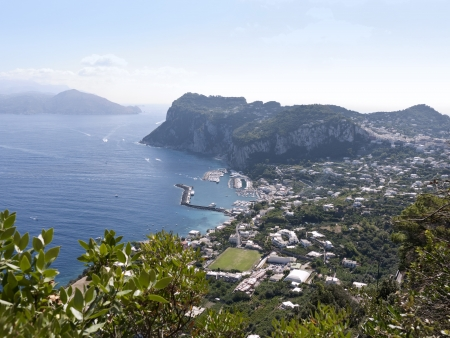 Overlooking the sea on the magical Isle of Capri in Anacapri, Capri, Campania,Italy