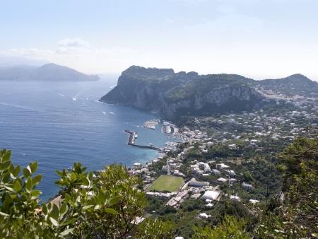 Overlooking the sea on the magical Isle of Capri in Anacapri, Capri, Campania,Italy