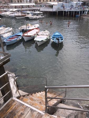 marquetry: Marina Grande the original fishing port of Sorrento in Campania Italy