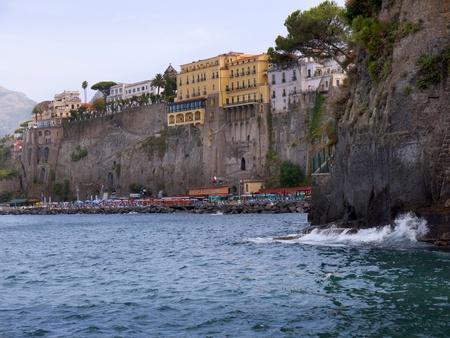 marquetry: Marina Grande el original pesca puerto de Sorrento en Italia de Campania Foto de archivo