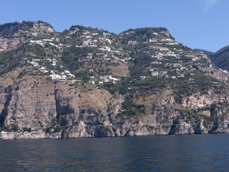 steinbeck: The Amalfi Coast Between Amalfi and Sorrento, Campania, Italy Stock Photo