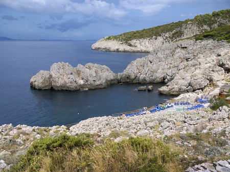 undeveloped: The undeveloped part of the Island of Capri in Italy