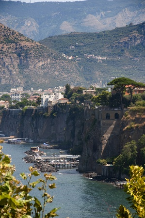 The Cliffs of Sorrento in Campania in Southern Italy Banco de Imagens