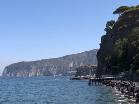 The Cliffs of Sorrento in Campania in Southern Italy photo