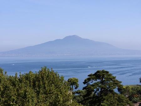 Mount Vesuvius in the Bay of Naples from Sorrento Italy photo