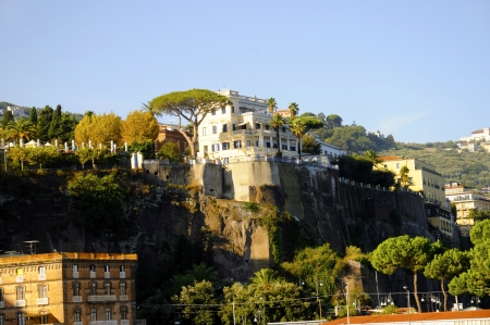 marquetry: The Cliffs of Sorrento in Campania in Southern Italy Stock Photo