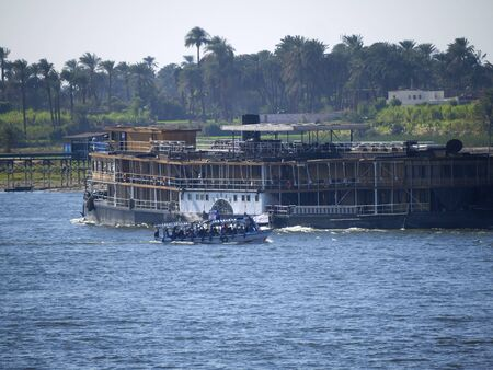 Boat used in the film Death on the Nile on the River Nile in Egypt photo